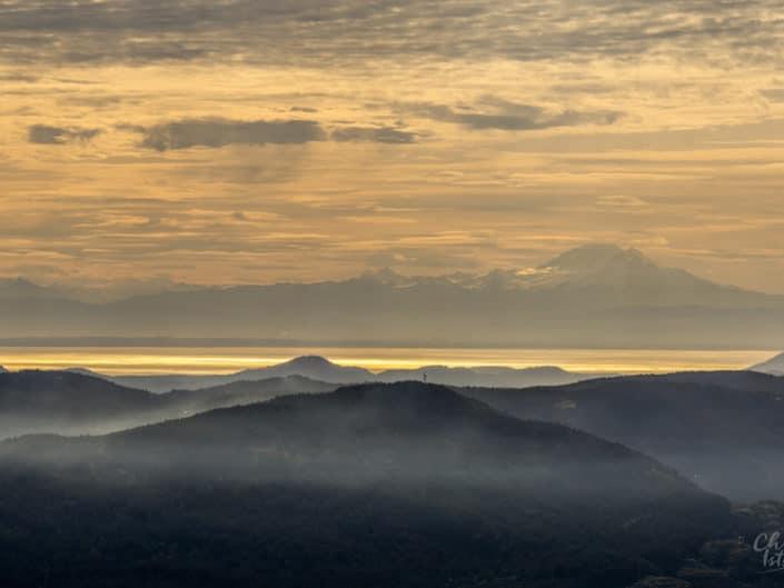 Vancouver Island Sunrise Mt Prevost Mt Baker