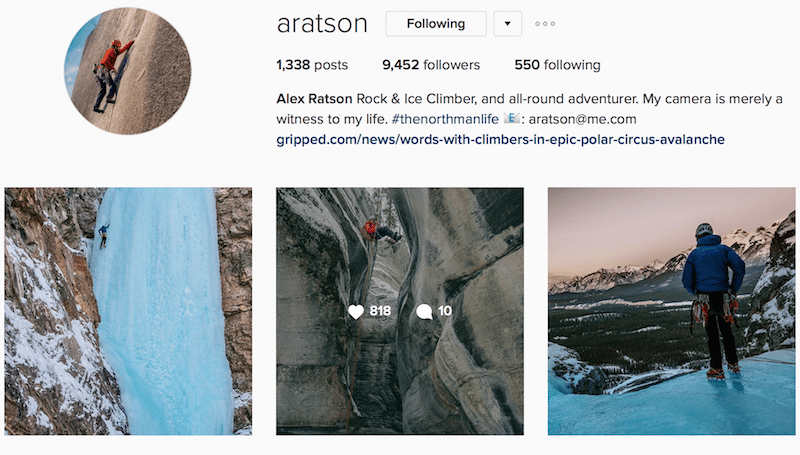 aratson instagram outdoors canada