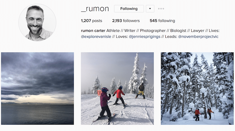 outdoor canadian instagrammer