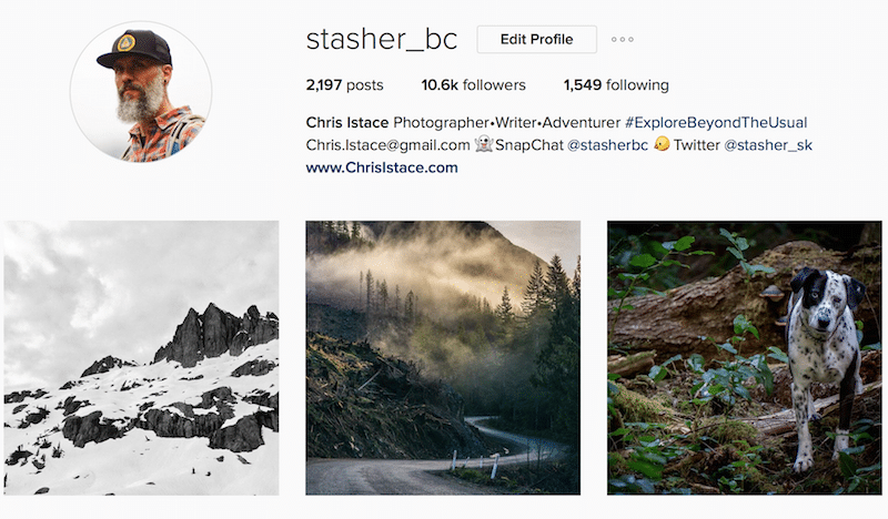 Chris Istace Stasher_BC inspiring canadian outdoor instagrammer