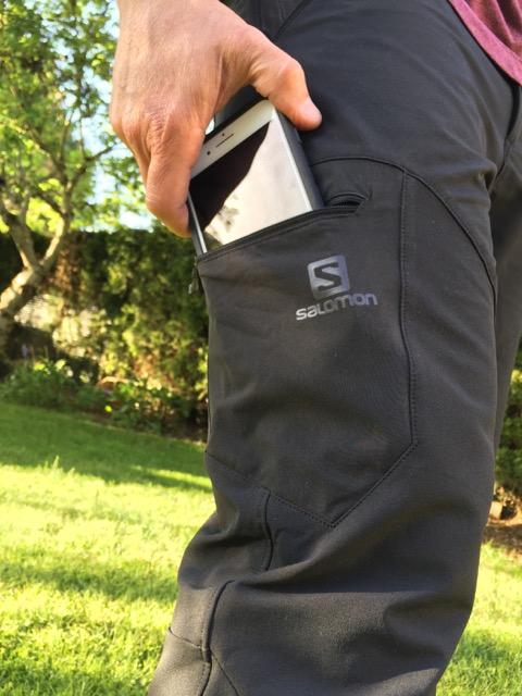 Salomon Wayfarer Womens Walking Pants Grey