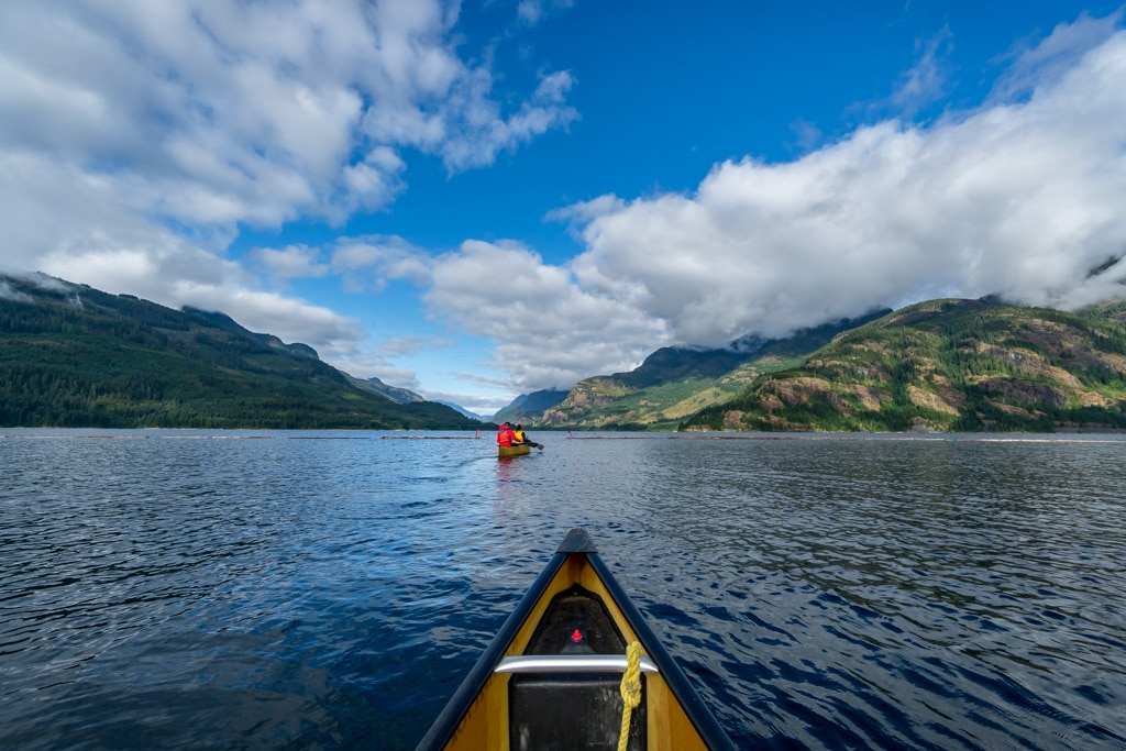 Canoeing, Strathcona Park, Campbell River, Vancouver Island