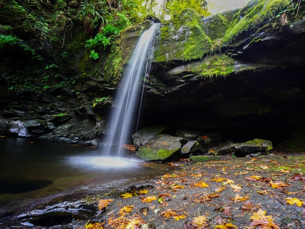 Popular Hiking Trails in Chemainus Stocking Creek Park waterfall