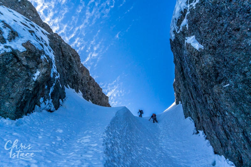 Vancouver Island Snow Gully Route of Mount Arrowsmith Chris Istace