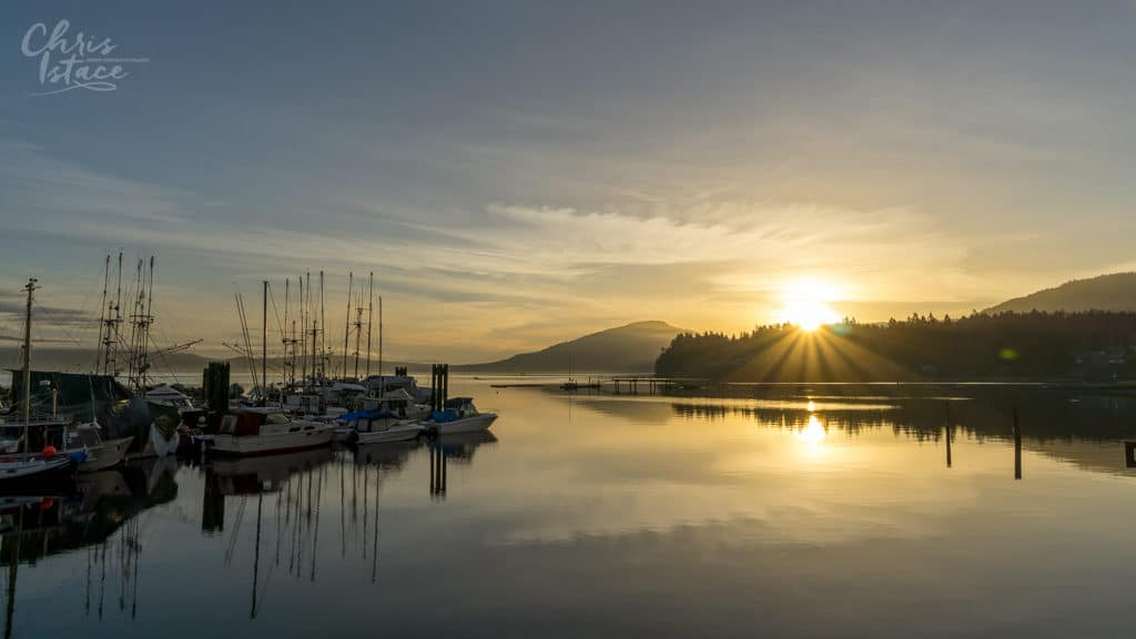 Sunrise Osborne Bay in Crofton ~ Vancouver Island Photography