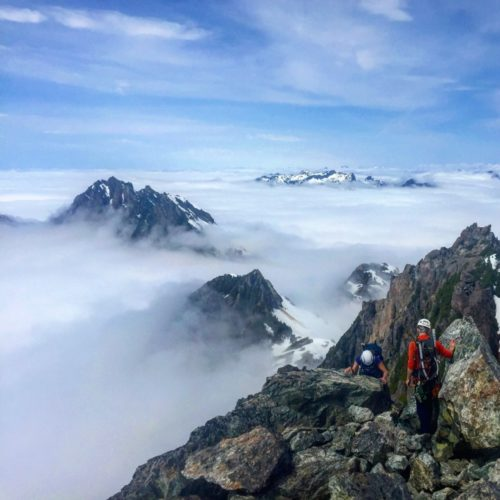 Chris Istace Vancouver Island Climbing the Main Summit of Triple Peak