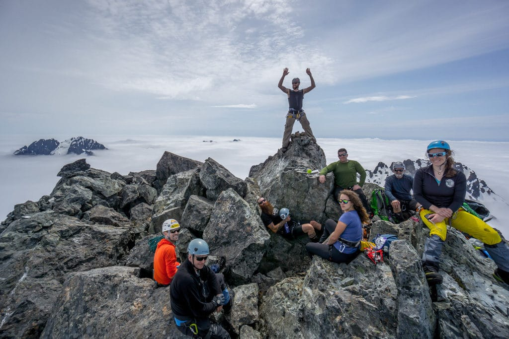 Climbing the Main Summit of Triple Peak