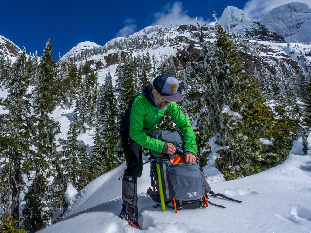 Mountain Hardwear Gear review Ozonic 70 outdry backpack Chris Istace