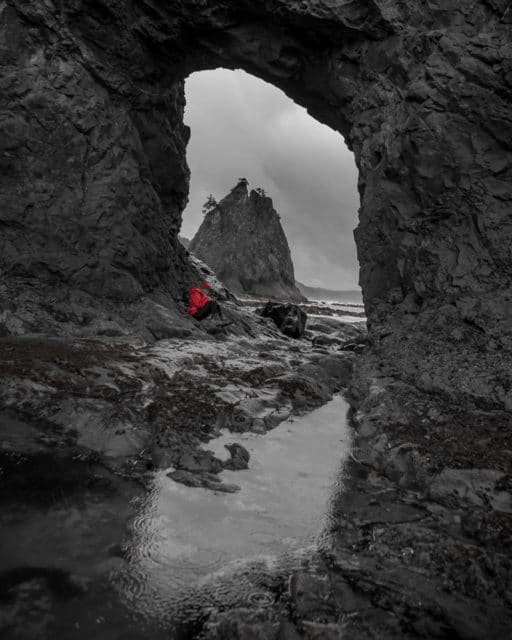Olympic Peninsula Chris Istace Hole in the Wall Rialto Beach