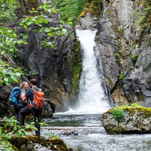 Port Alberni waterfall day hike Vancouver Island