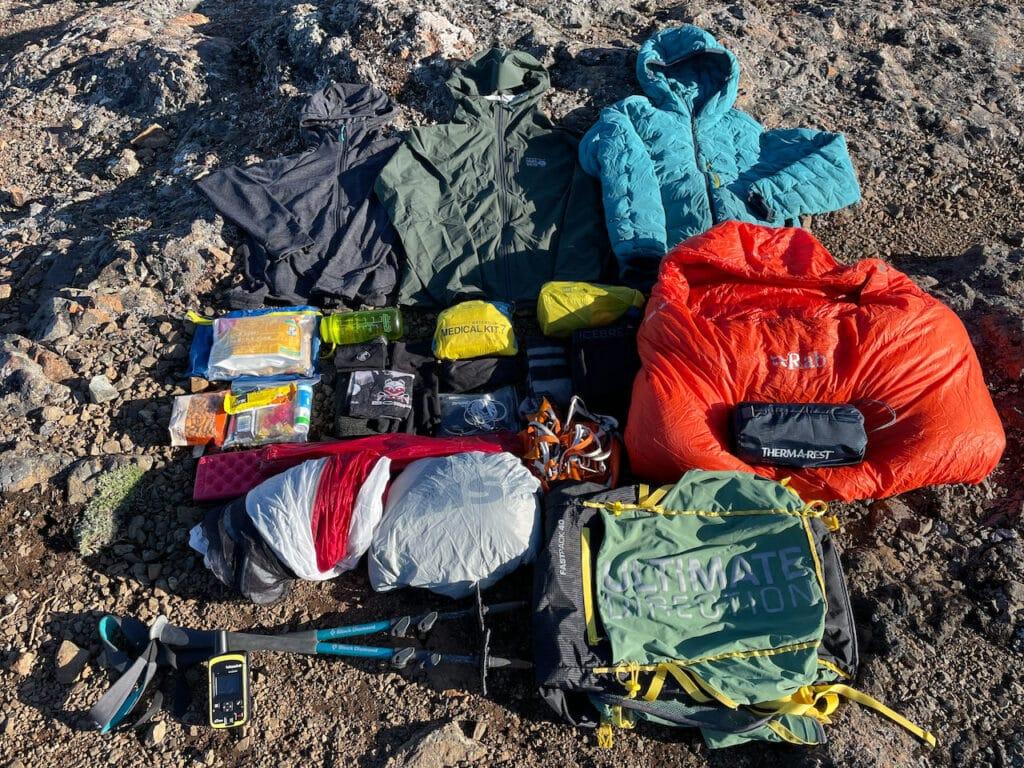 Lightweight Backpacking Gear List 2021 Gear Layout
